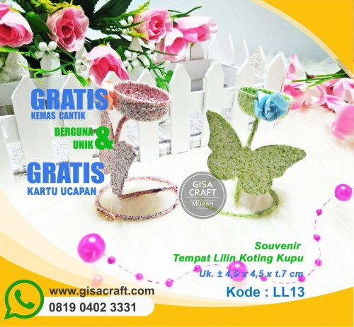 Souvenir Tempat Lilin Koting Kupu LL13