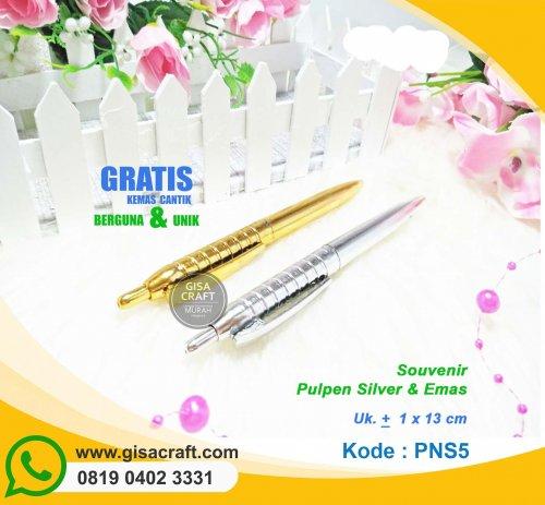 Souvenir Pulpen Silver & Emas PNS5