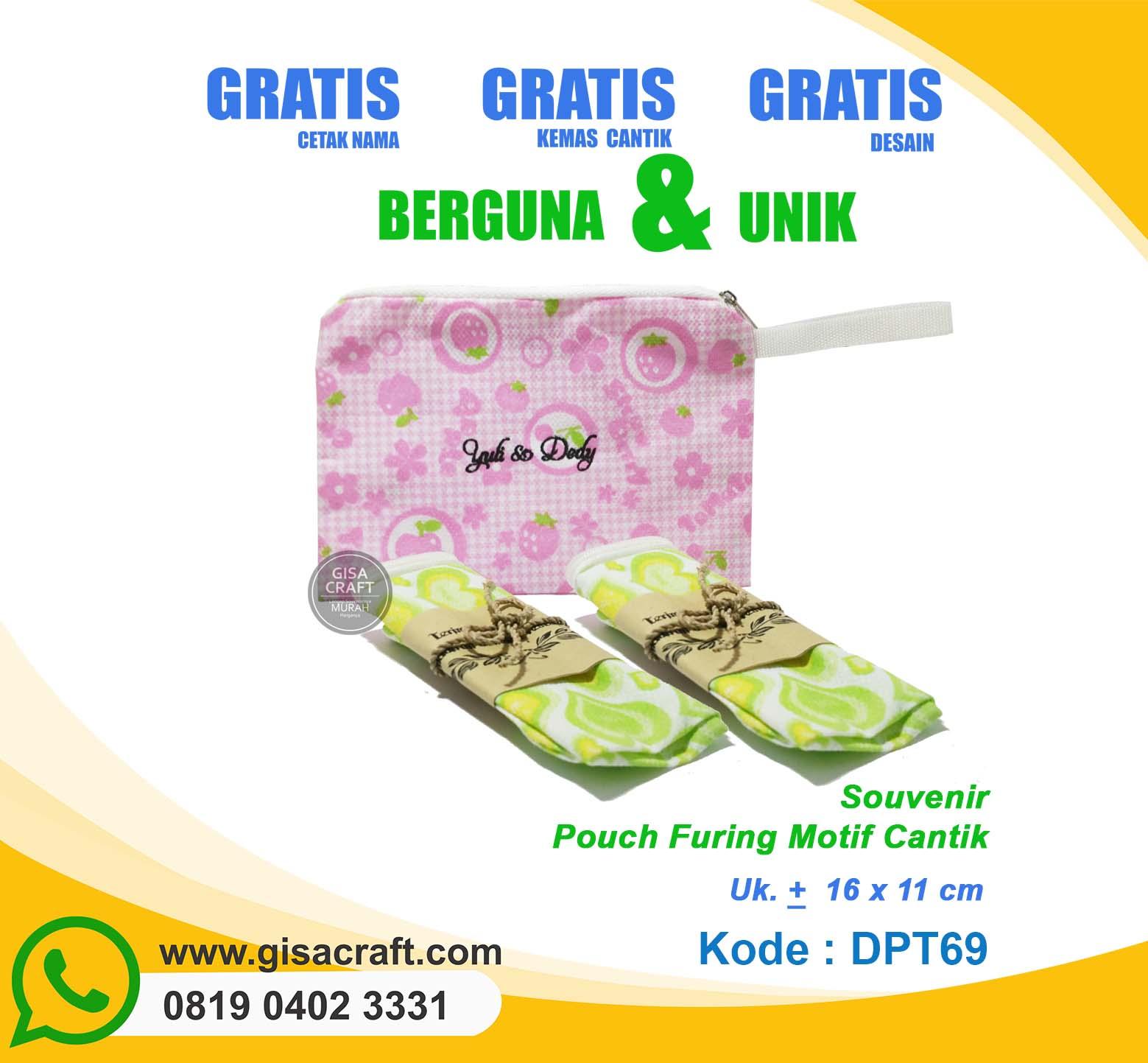 Souvenir Pouch Furing Motif Cantik DPT69