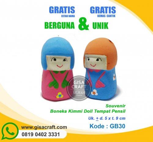 Souvenir Boneka Kimmi Doll Tempat Pensil GB30