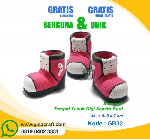Souvenir Tempat Tusuk Gigi Sepatu Boot GB32