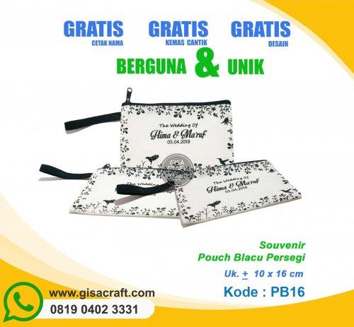 Souvenir Pouch Blacu Persegi PB16