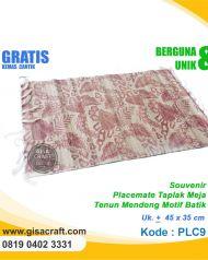 Souvenir Placemate Taplak Meja Tenun Mendong Motif Batik PLC9