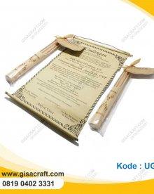 Undangan Gulung Bambu Separuh UGL6