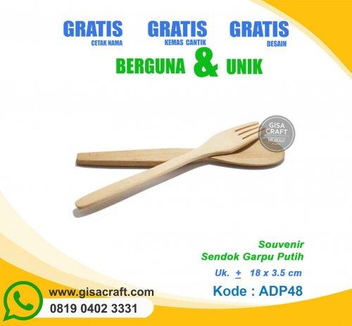 Souvenir Sendok Garpu Kayu Putih ADP48