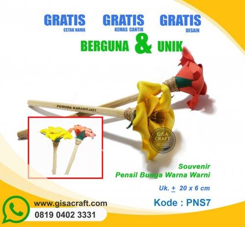 Souvenir Pensil Bunga Warna Warni PNS7