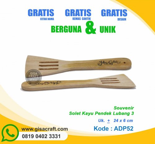 Solet Kayu Pendek Lubang 3 ADP52