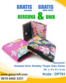 Souvenir Dompet Koin Shabby Tanpa Siku Emas DPT81