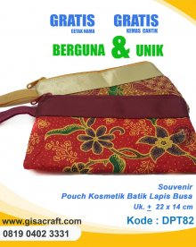 Souvenir Pouch Kosmetik Batik Lapis Busa DPT82