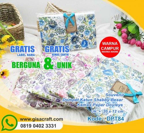 Souvenir Dompet Katun Shabby Besar Kemas Paper Doyleys DPT84