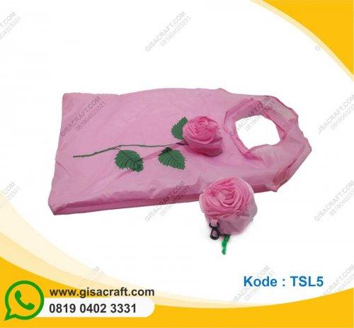 Souvenir Tas Shopping Bag Parasut Mawar TSL5
