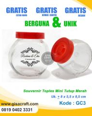 Souvenir Toples Mini Tutup Merah GC3