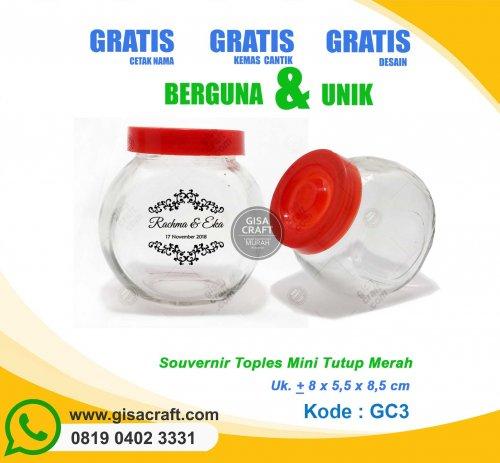 Souvenir Toples Mini Tutup Merah GC3