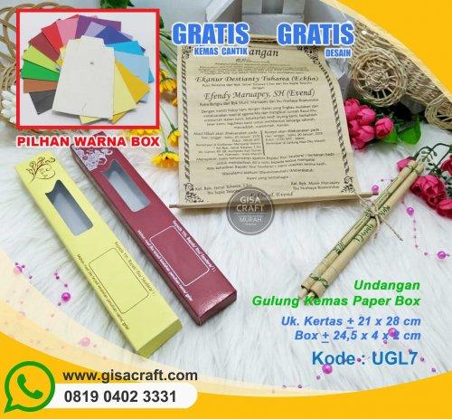 Undangan Gulung Kemas Paper Box UGL7