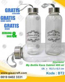 Souvenir My Bottle Kaca Sablon 400 ml BT2