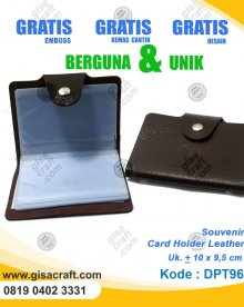Souvenir Card Holder Leather DPT96