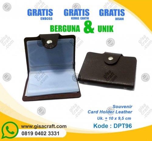 Souvenir Card Holder Leather DPT96