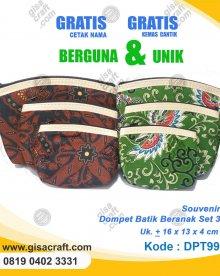 Souvenir Dompet Batik Beranak Set 3 DPT99