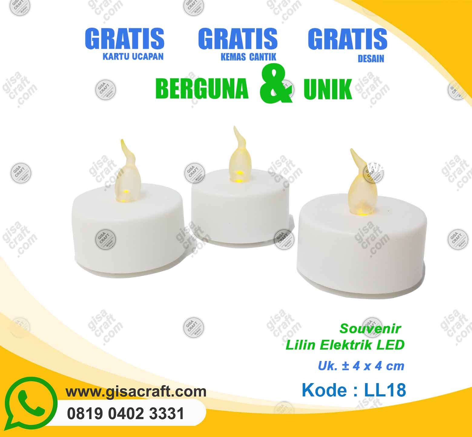 Souvenir Lilin Elektrik LED LL18