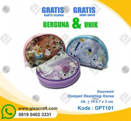 Souvenir Dompet Resleting Korea DPT101