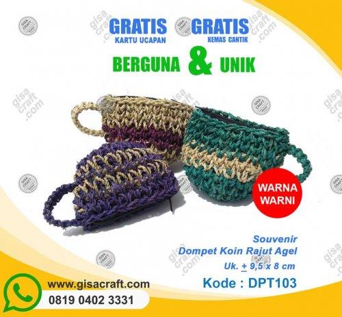 Souvenir Dompet Koin Rajut Agel DPT103