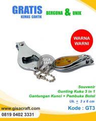 Souvenir Gunting Kuku 3 in 1 : Gantungan Kunci + Pembuka Botol GT3