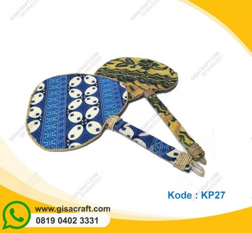 Souvenir Kipas Batik Love KP27