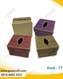 Souvenir Tempat Tisu Kecil Lapis Daun Kakao TT15