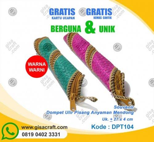 Souvenir Dompet Ulir Pisang Anyaman Mendong DPT104