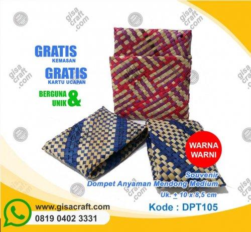 Souvenir Dompet Anyaman Mendong Medium DPT105