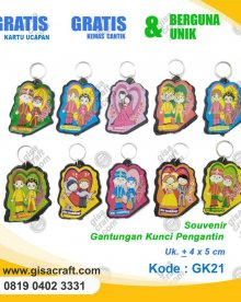 Souvenir Gantungan Kunci Pengantin GK21