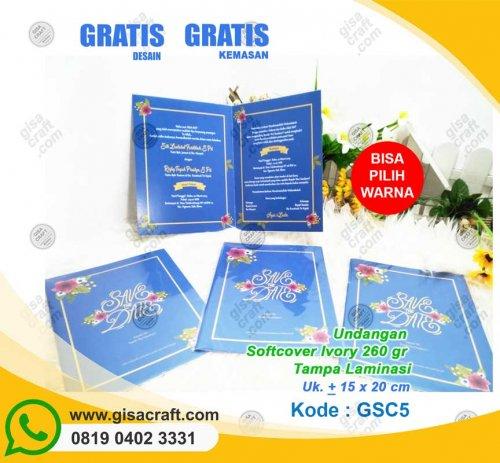 Undangan Softcover Ivory 260 gr Tanpa Laminasi GSC5