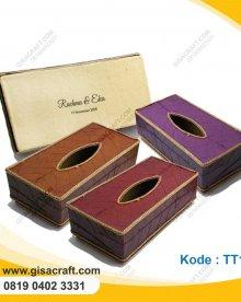 Souvenir Tempat Tisu Box Daun Kakao Besar TT16