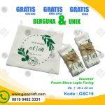Souvenir Pouch Blacu Lapis Furing GSC15