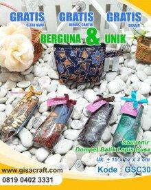 Souvenir Dompet Batik Lapis Busa GSC30