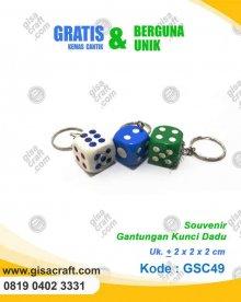 Souvenir Gantungan Kunci Dadu GSC49