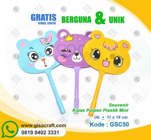 Souvenir Kipas Pulpen Plastik Mini GSC50