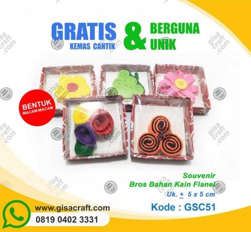 Souvenir Bros Bahan Kain Flanel GSC51