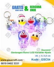 Souvenir Gantungan Kunci LED Karakter Menyala GSC54