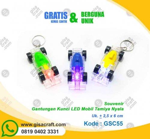 Souvenir Gantungan Kunci LED Mobil Tamiya Nyala GSC55