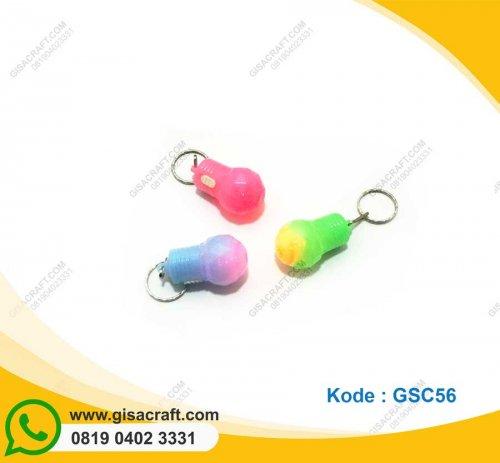 Souvenir Gantungan Kunci LED Bohlam Nyala GSC56