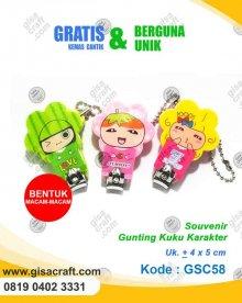 Souvenir Gunting Kuku Karakter GSC58