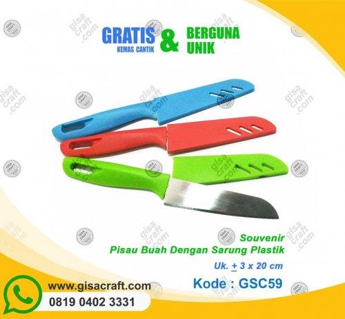 Souvenir Pisau Buah Dengan Sarung Plastik GSC59