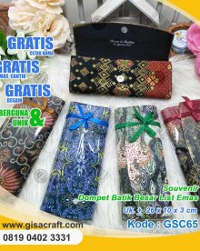Souvenir Dompet Batik Besar List Emas GSC65