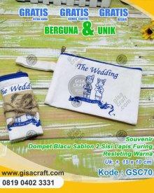 Souvenir Dompet Blacu Sablon 2 Sisi Lapis FUring Resleting Warna GSC70