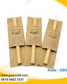 Souvenir Sedotan Bambu Kemas Wrap GSC80
