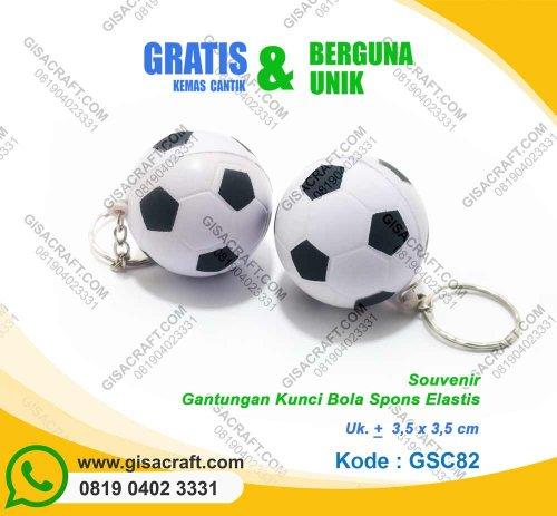 Gantungan Kunci BOla Spons Elastis GSC82