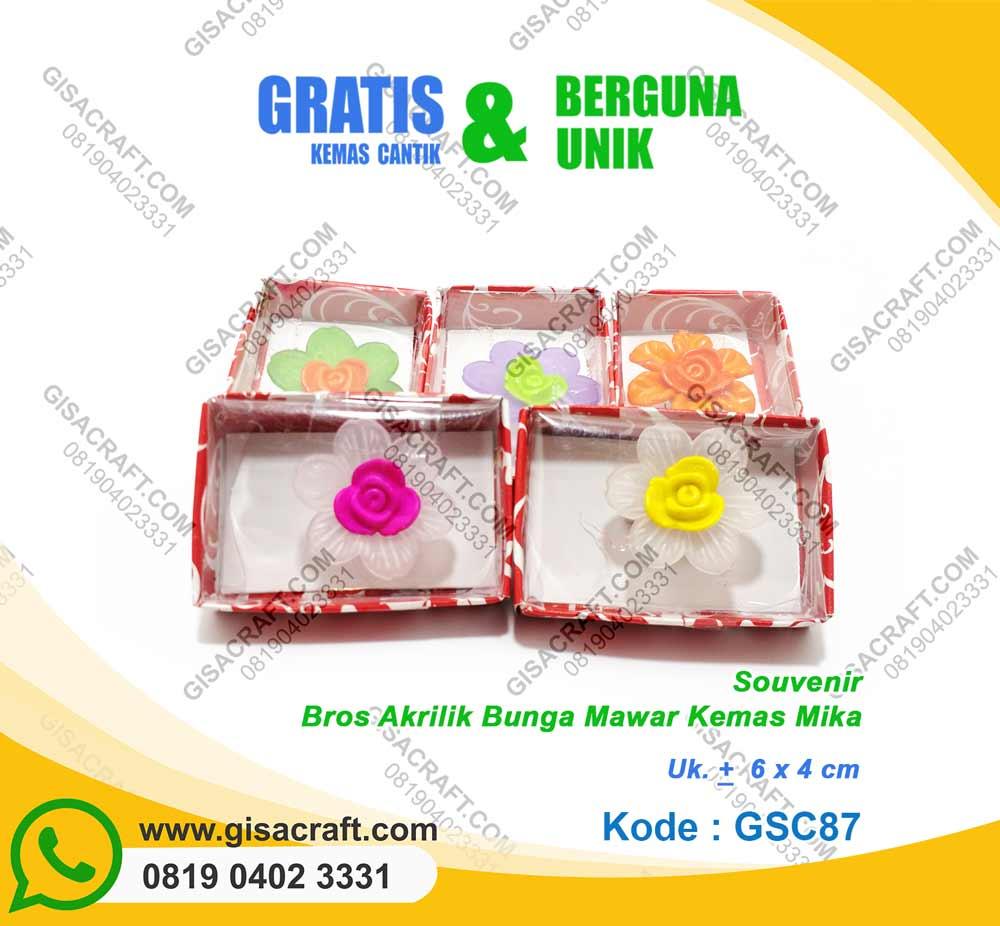 Bros Akrilik Bung Mawar Kemas Mika GSC87