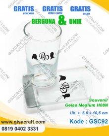 Souvenir Gelas Medium H08N GSC92