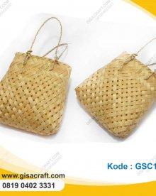 Souvenir Tas Mini Anyaman Bambu GSC108